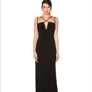 Laundry Shelli Segal Jersey Criss Cross Black Gown
